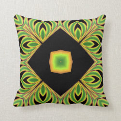 Funfractal Scrolls Kaleidoscope Design No 2 Throw Pillow