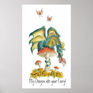 Fungi Dragon Poster