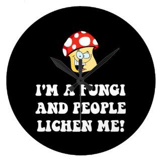 Fungi Lichen Large Clock