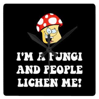 Fungi Lichen Square Wall Clock