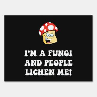 Fungi Lichen Yard Sign