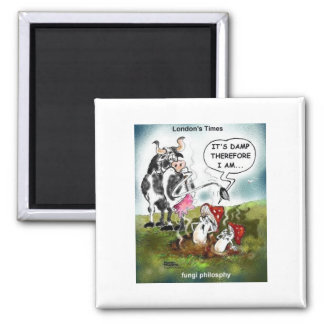 Fungi Philosophy Funny Gifts Tees & Collectibles 2 Inch Square Magnet