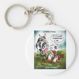 Fungi Philosophy Funny Gifts Tees & Collectibles Basic Round Button Keychain