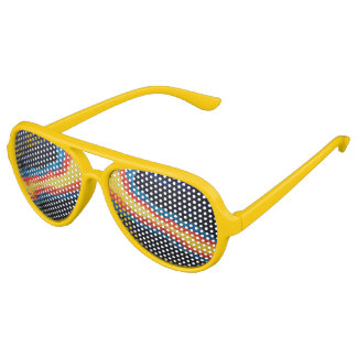 Funglasses amarillo enrrollado lentes de sol