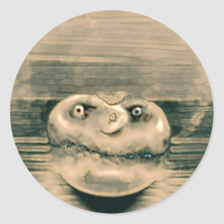 Fungus head classic round sticker