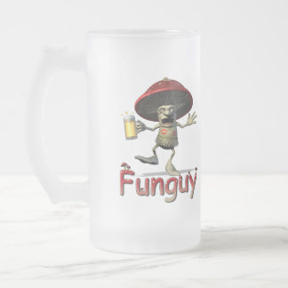 Funguy Mushroom Beer Glass Frosted Glass Beer Mug
