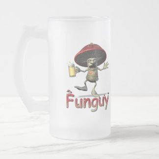 Funguy Mushroom Beer Glass Frosted Glass Beer Mug