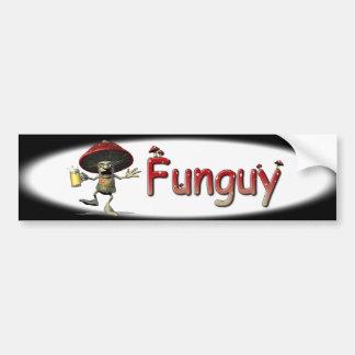 Funguy Mushroom Bumper Sticker