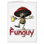 Funguy Mushroom Greeting Card
