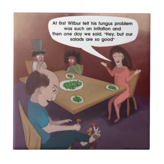 FunGuy ToedStools For Dinner Funny Ceramic Tile