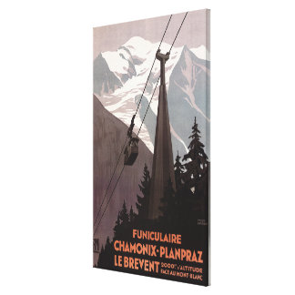 Funiculaire Le Brevent Cable Car Poster Canvas Print