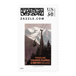 Funiculaire Le Brevent Cable Car Poster Postage