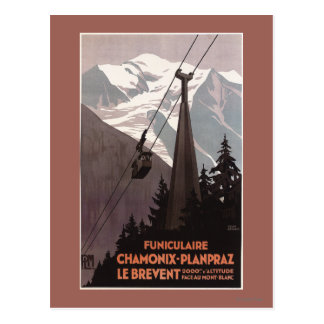 Funiculaire Le Brevent Cable Car Poster Postcard
