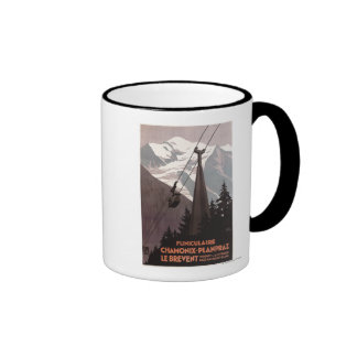 Funiculaire Le Brevent Cable Car Poster Ringer Mug