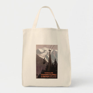 Funiculaire Le Brevent Cable Car Poster Tote Bag