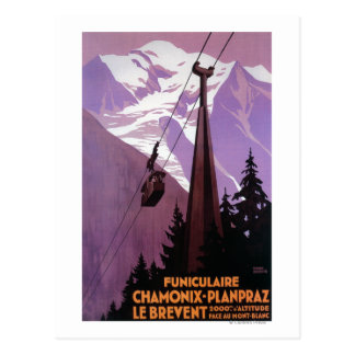 Funicular Railway to Brevent Mt. Postcard