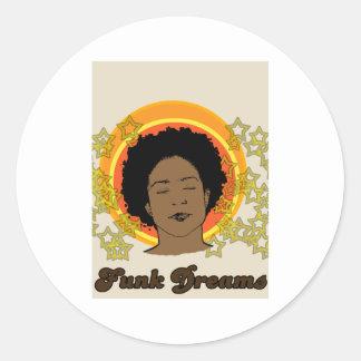 Funk Dreams Round Stickers