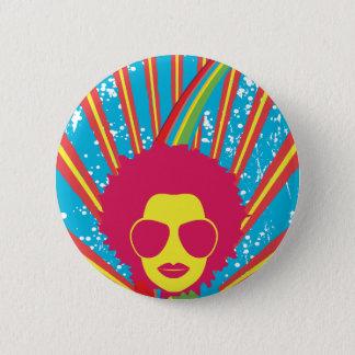 Funk ~ Funky Disco Queen 80s 1980s Retro Button