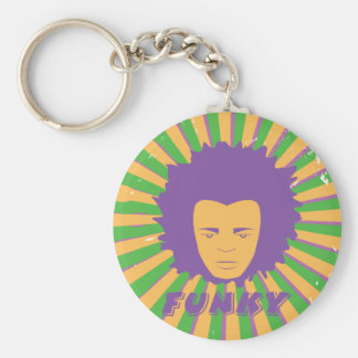 Funk ~ Funky Retro 80s 1980s Disco Man Keychain