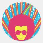 Funk ~ Funky Soul Disco Man Classic Round Sticker