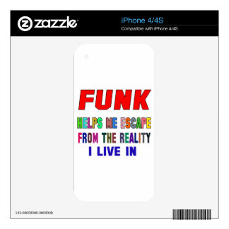 Funk Helps Me iPhone 4S Decal