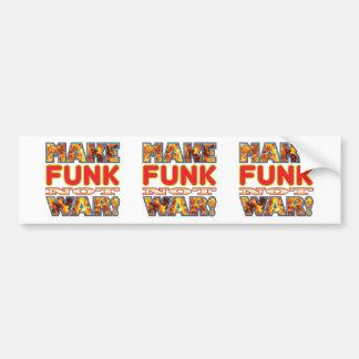 Funk Make X Bumper Sticker