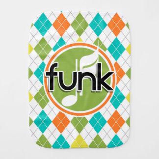 Funk Music; Colorful Argyle Pattern Baby Burp Cloths