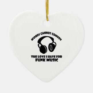Funk Music designs Ceramic Ornament
