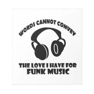Funk Music designs Notepad