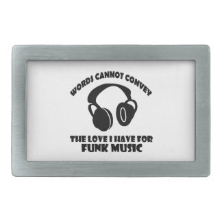 Funk Music designs Rectangular Belt Buckle