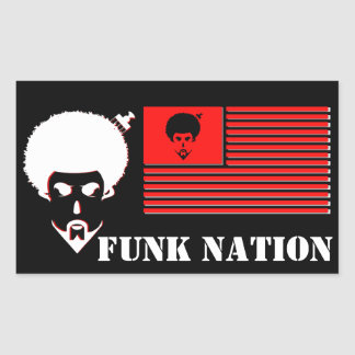 FUNK NATION Rectangle Stickers
