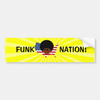 Funk Nation: The United States of Funk Bumper Sticker