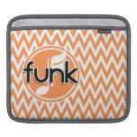 Funk; Orange and White Chevron iPad Sleeves