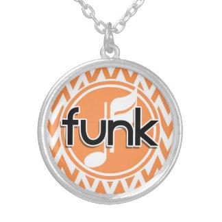 Funk; Orange and White Chevron Pendants
