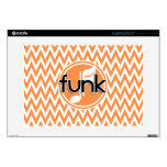 """Funk; Orange and White Chevron Decals For 15"""" Laptops"""