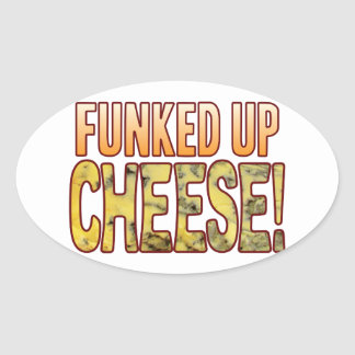 Funked Up Blue Cheese Oval Sticker