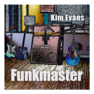 """Funkmaster"" by Kim Evans Album Cover Poster"