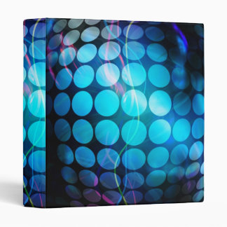 Funky 3D Circles Background 3 Ring Binder