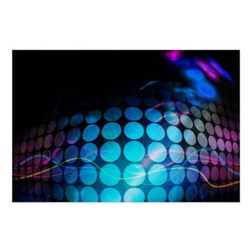 Funky 3D Circles Background Poster