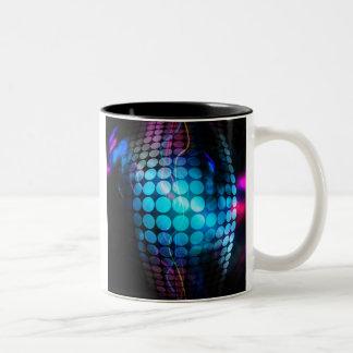 Funky 3D Circles Background Two-Tone Coffee Mug