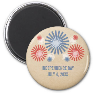 Funky 4th of July Fireworks Magnet