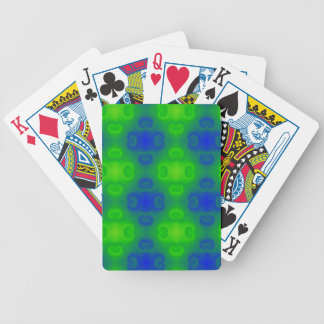 Funky 70s Abstract Pattern Neon Blue Green Blur Bicycle Playing Cards