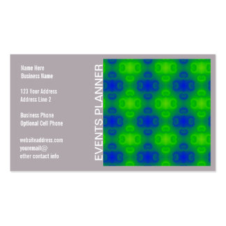 Funky 70s Abstract Pattern Neon Blue Green Blur Business Card