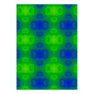 Funky 70s Abstract Pattern Neon Blue Green Blur Large Business Card