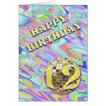 Funky abstract 12 birthday card