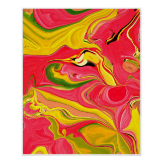 Funky Abstract Art Poster