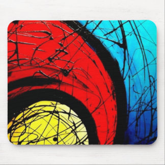 Funky Abstract Circles Art Mouse Pad