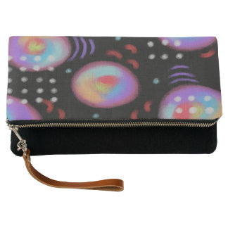 Funky Abstract Digital Painting Clutch