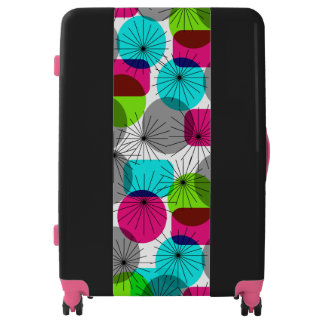 Funky Abstract Geometric Bold Bright Trendy Luggage