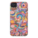 Funky Abstract iPhone 4/4S Case-Mate Barely There Case-Mate iPhone 4 Case